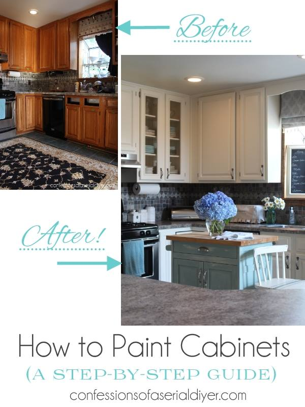 How to Paint Kitchen Cabinets the Right Way - Home Garden DIY